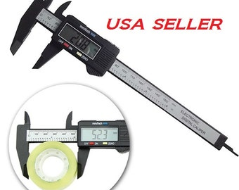 6inch 150mm Electronic Digital Caliper Ruler Carbon Fiber Composite Vernier US SELLER Fast Shipping