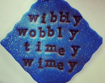 DOCTOR WHO inspired Wibbly Wobbly Timey Wimey pendant