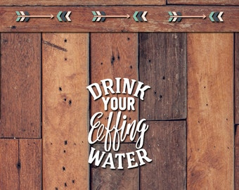 Drink Your Effing Water Decal | Yeti Decal | Yeti Sticker | Tumbler Decal | Car Decal | Vinyl Decal