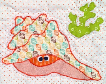 FREE (Almost) Conch Shell Applique Pattern PDF