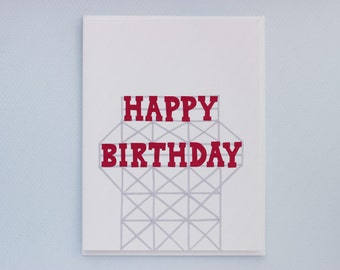 Kentile Floors Birthday - papercut collage card