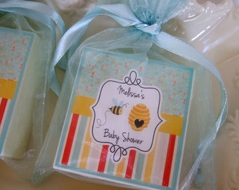 Baby Shower Favors, Bee Theme Shower Favors, Soap favors, Baby Sprinkle Favors,  Boy or Girl Shower Favors, set of 10