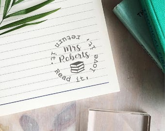 Read It, Love It, Return It Stamp - Custom Teacher Stamp - Library Stamp - Book Stamp