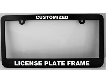 License Plate Holders >> Custom License Frame Etsy