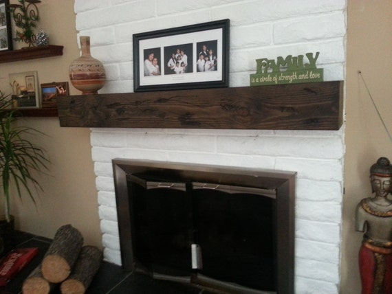 Fireplace Rustic Mantel Beam 7 Height