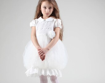 Valeri Special Occasion dress, christening dress, flower girl dress, girl lace dress, toddler dress,