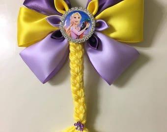 Disney Inspired Rapunzel Hair bow - Handmade