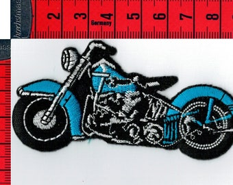 Iron or sew motorcycle Blue Coat. Patch applique
