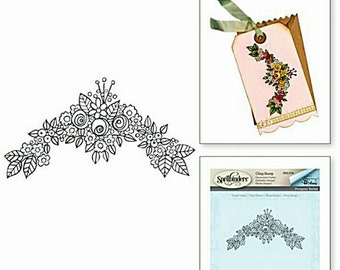 Spellbinders Cling Stamp - Tammy Tutterow Flower Swag 2