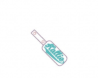 Kallie - In The Hoop - Snap/Rivet Key Fob - DIGITAL EMBROIDERY DESIGN