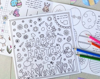 Fun Easter Activity Card - Children's Colourful Activity Card