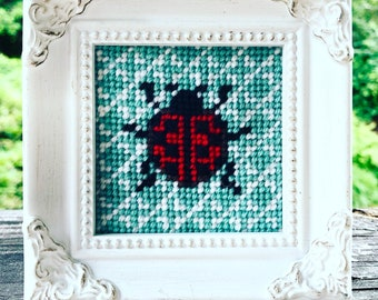 Mini Framed Needlepoint Ladybug Kit