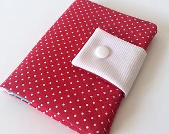 Red white polka dot card one of its kind