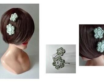 hair flower, wedding hair clip, barrette, Haarklammen clip hairpin hair, wedding