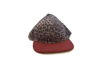 Vintage Fuzzy Leopard Print Trucker Hat
