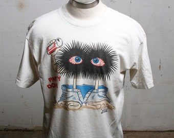 Vintage 80's Wooly Booger Party Down Beer T shirt Rare XL