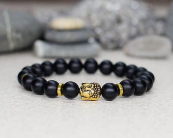 Protection bracelet Buddha bracelet Mala bracelet Mantra bracelet Men bracelet Yoga jewelry Spiritual gift for men gift for husband gift him