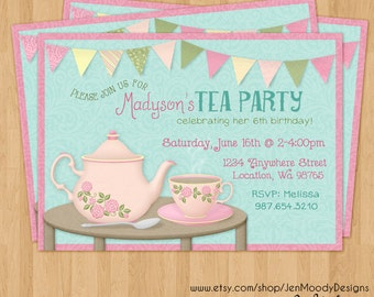 Tea for two invite Etsy