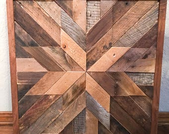 Barn Wood Quilt   Custom Wood Art   Reclaimed Wood Decor   Rustic Home Decor