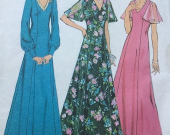 """Sewing pattern - long evening dress pattern -  Size 16, Bust 38"""" - dress pattern - vintage sewing pattern . 1970s pattern"""