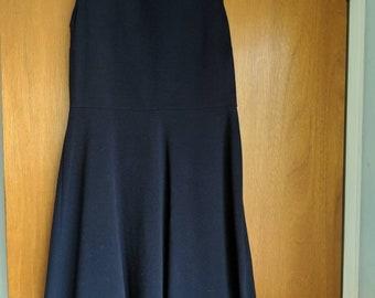 Talbot's Navy Blue Spring/Summer Fit & Flare Sleeveless Dress- Size M
