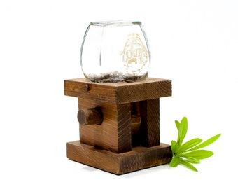 VINTAGE: Rustic Wood Gumball Dispensing Machine - Jar Candy Dispenser - SKU 22-C-00011847