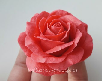 Red Rose, cold porcelain flower, flowers for decor