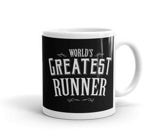 Marathon Runner Gift, World's Greatest Runner Coffee Mug, gift for half marathon runner