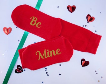 Personalised Be Mine Socks - Will You Be Mine Valentine? Socks - Valentine's Day Socks - Gift for Couple - Made To Order