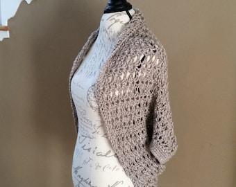 Sweater PATTERN, Shrug Pattern, Sweater, Cocoon Sweater, Wrap, Shawl Sweater, Everyday Sweater, Crochet Sweater