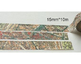 Washi tape (washi) - print-city map