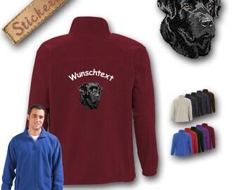 Cosy fleece jacket jacket embroidery dog LABRADOR BLACK Great gift idea