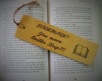 Quitter Strip Wood Bookmark