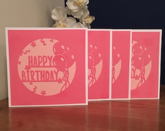 Pretty in Pink Happy Birthday Card
