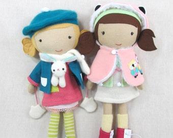 Custom Made Doll -  HANDCRAFTED STUDIO DOLL  - Handmade, Doll, Girl, Boy, Toy, Plush, Children, Plush, Gift,