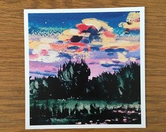 Field at Sunset Print 5x5