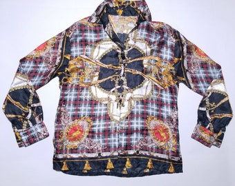 Silk Royal Long Sleeve Button Down Collard  Oxford S-M