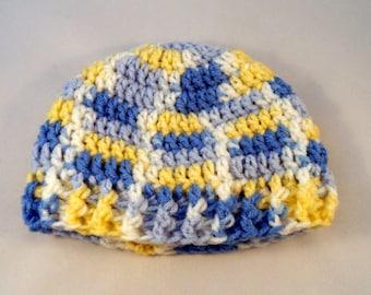 Baby Boy Hat, Crochet Infant Cap, Newborn Boy Hat, Baby Beanie, Multicolor Cap, Newborn Beanie, 12 Months Hat, Cute Baby Hat, Little Boy Hat