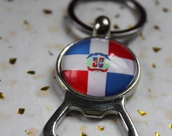 Dominican  flag Bottle Opener