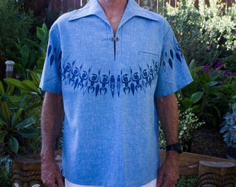 Iolani - Hawaii - Speckled Blue - Aloha / Hawaiian Shirt