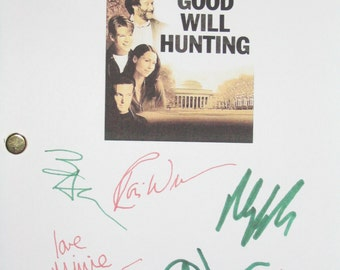 Good Will Hunting Signed Movie Film Screenplay Script X6 Autographs Matt Damon Robin Williams Casey Ben Affleck Cole Hauser Minnie Driver