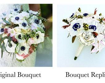 First Wedding Anniversary Gift, Paper, Paper Bouquet, Bouquet Replica