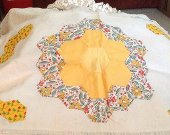 Vintage Quilted Pieces Colorful