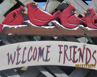 Welcome  Red Robin  Birds Sign