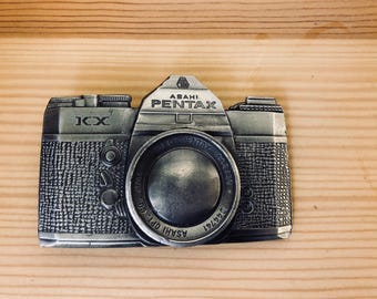 Vintage Pentax Belt Buckle *limited edition* from Lewis Buckles in Chicago