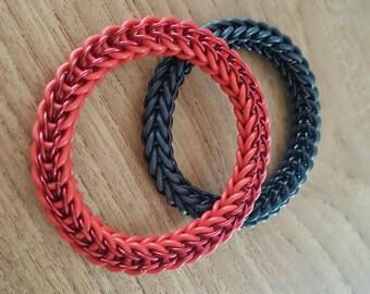 Rubber and aluminium Bracelet (no lock)
