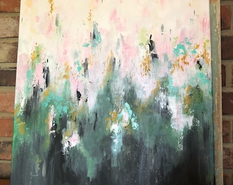 Spring Colors abstract acrylic original painting