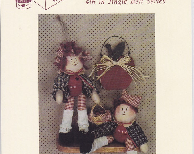 """FREE US SHIP Craft Sewing Pattern Twice as Nice Designs Andy Annie Belle Dolls Jingle Bell body 8"""" 161 1992 Uncut"""
