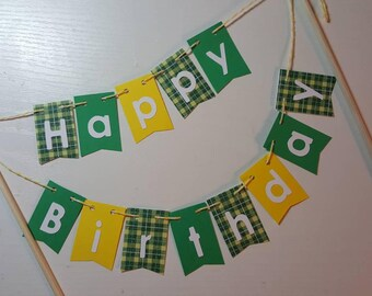"Cake Bunting, ""Farmer"", Happy Birthday, Cake Topper,"