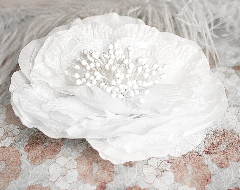 Wedding Hair Clip White Flower Hair Clip Wedding Hair Piece